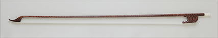 Cello bow with screw mechanism (from 1770) # Snakewood, mammoth ivory button | 741mm | 74-78g