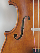@copy; Nina Strugalla - Baroque violin after Jacobus Stainer, Absam 1668 # Body length 353mm | Vibrating string length 325mm